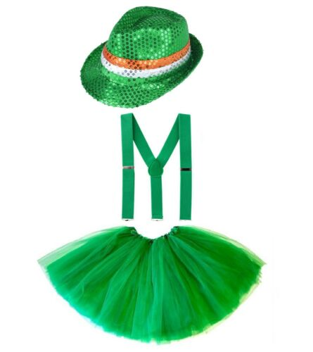 PATRICK`S DAY FANCY DRESS COSTUME Party Irish Clover Girls Accessory Lot UK ST