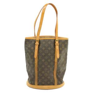 LOUIS-VUITTON-Monogram-Bucket-GM-Shoulder-Bag-M42236-LV-Auth-15962-Sticky