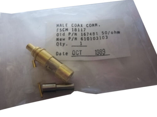 male Virginia Panel Corp coaxial connector 50ohm 610103103