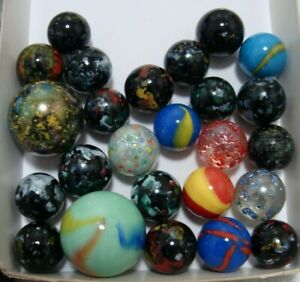 25-Marbles-Gift-Collect-Boys-Girls-Speckled-Confetti-Shooters-Colorful-Group