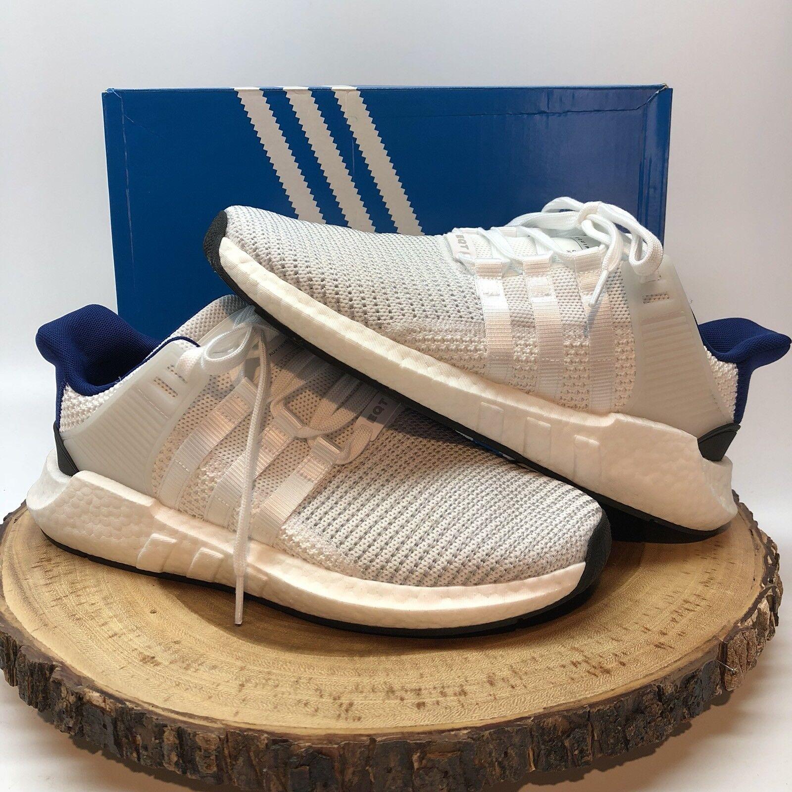 Adidas originali eqt 93 sostegno 93 eqt / 17 bianco blu e nero taglia 9,5 bz0592 impulso ultra 7bc295