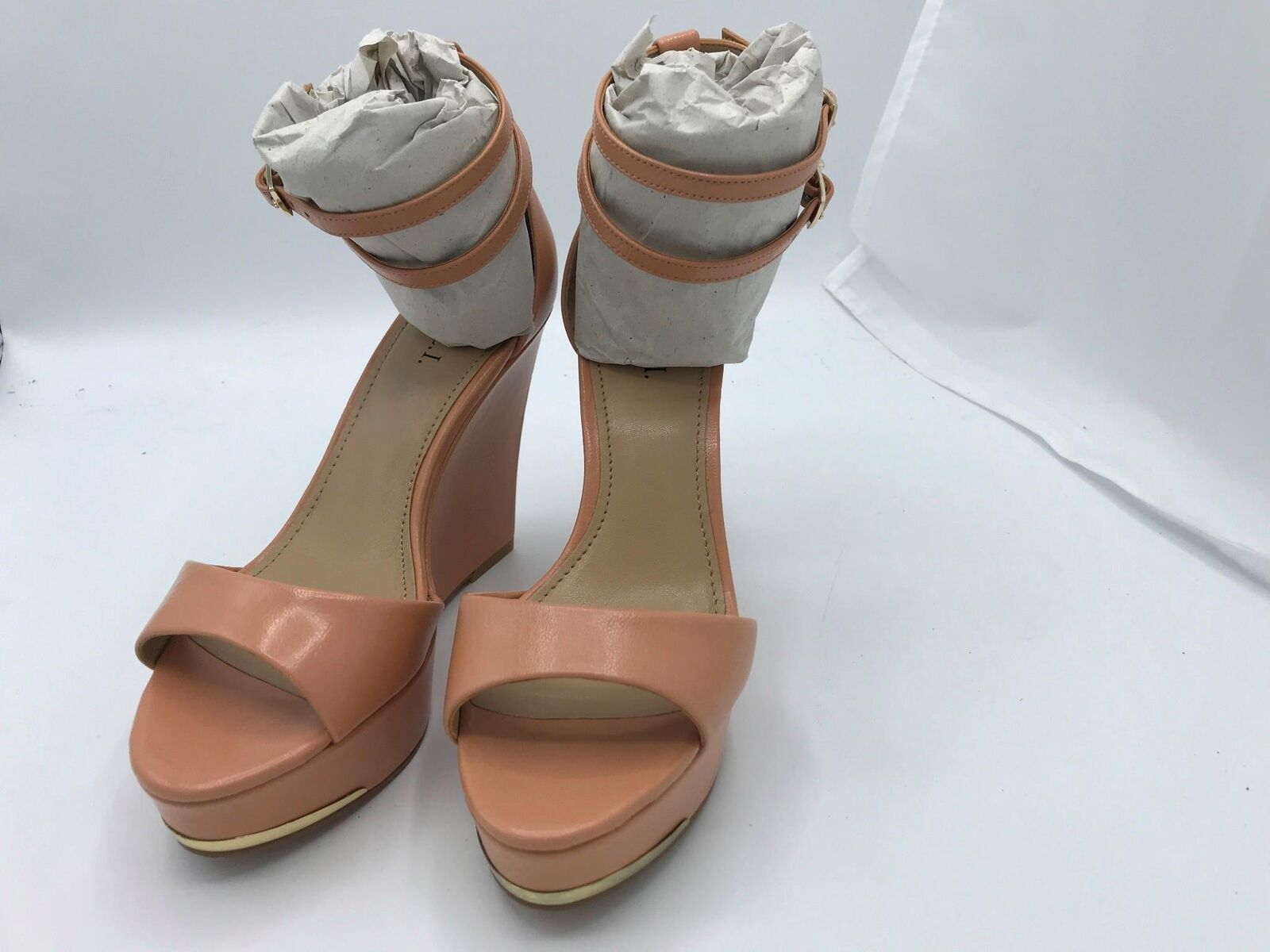 G.I.L.I. Leather Ankle-Strap Wedges-Avery (1654) Apricot Sz 5.5M 5.5M 5.5M d01be5