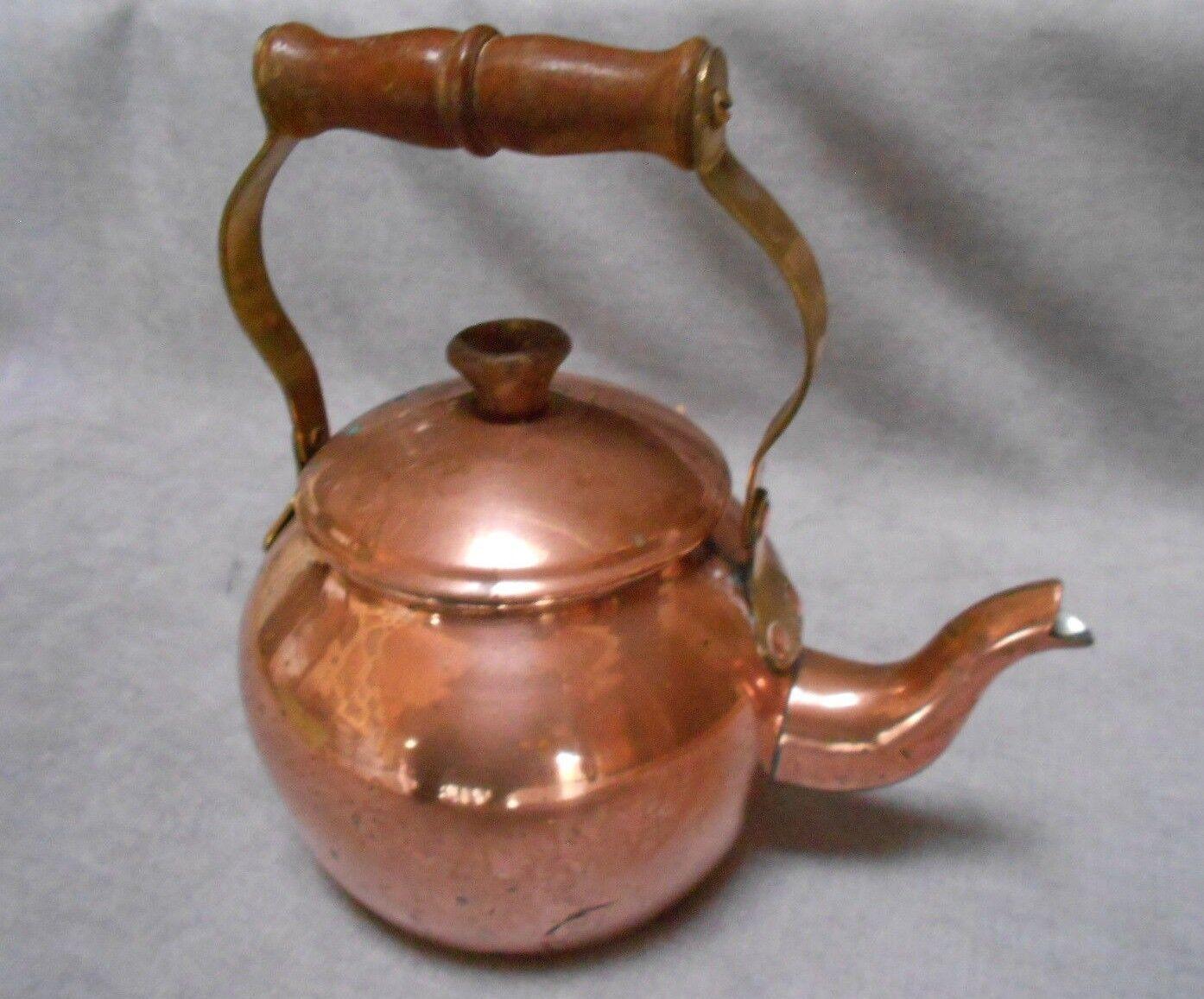 Vintage casser cuivre laiton Bouilloire théière Marqué
