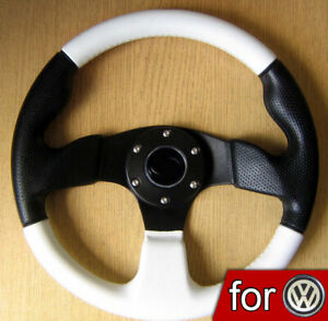 VOLANT-Tuning-Blanc-pour-VW-Transporter-T3-T4-T25-T5-Caravelle-New-Beetle