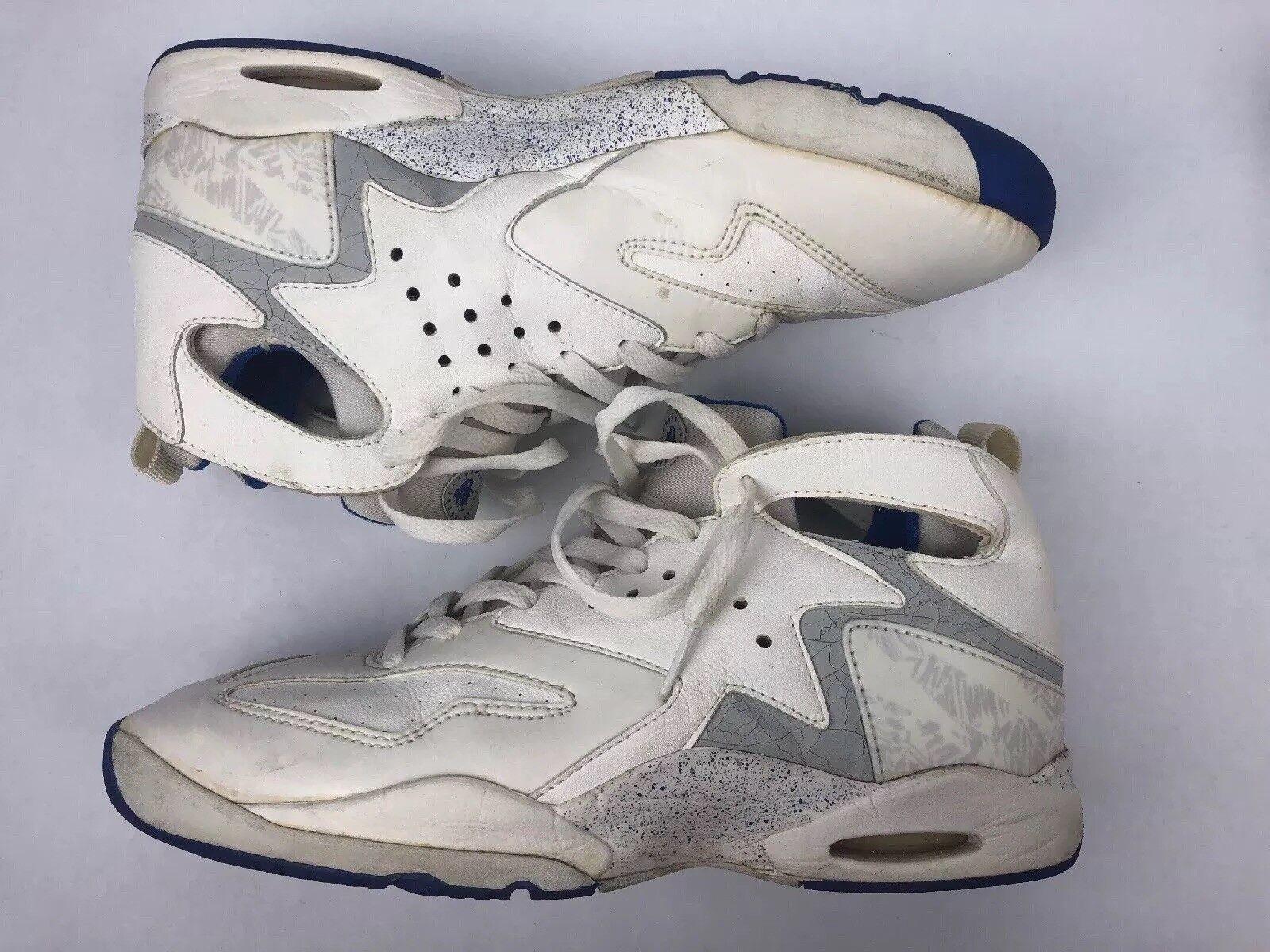 Vintage Nike Air Challenge Huarache 1992 Andre Aggis Tech White Blue Men's 12.5