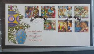 1994-NEW-ZEALAND-CHRISTMAS-SET-OF-7-STAMPS-FIRST-DAY-COVER