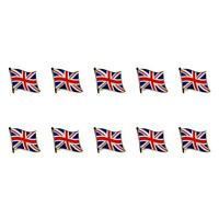 Lot Of 10 British Flag Lapel Pin 0.5 Uk Union Jack England Pinback Tie Badge
