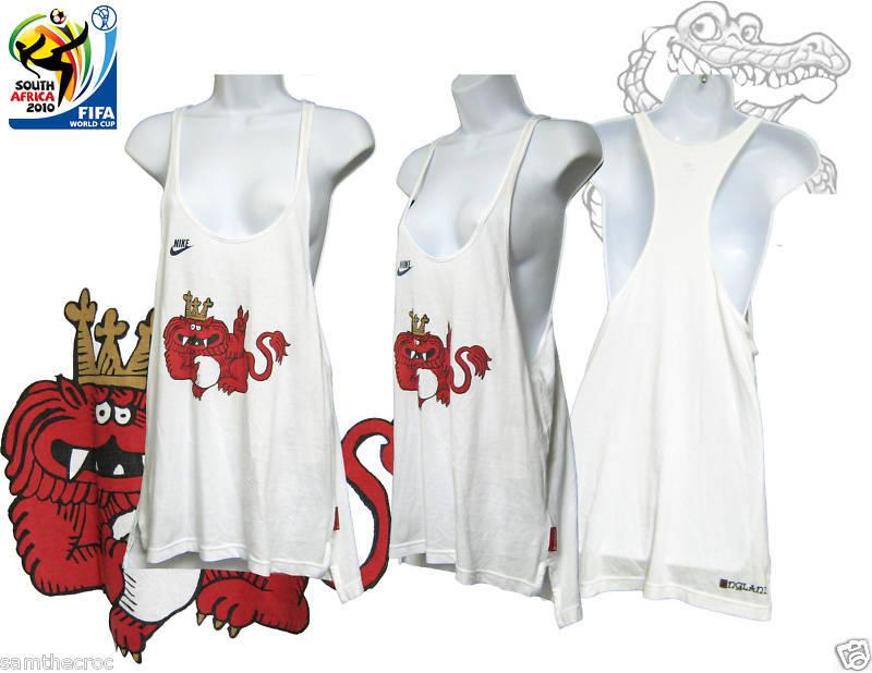 Nuova Nike Inghilterra Donna Calcio Gilet Camicia Jarvis Colab BIANCA S