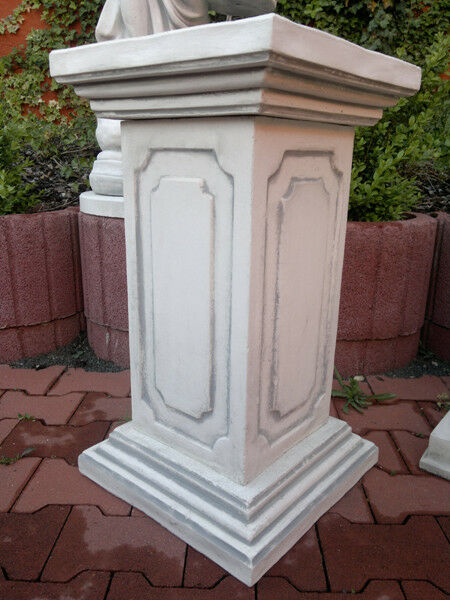 Säule Pfeiler Sockel eckig 3 teilig 66 cm Steinguss Balustraden Gartendeko
