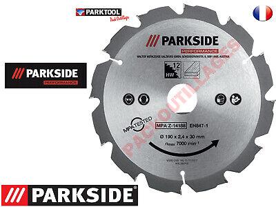PARKSIDE® PERFORMANCE Lame de scie circulaire 190 x 2,4 x 30mm 60 dents Pro !!