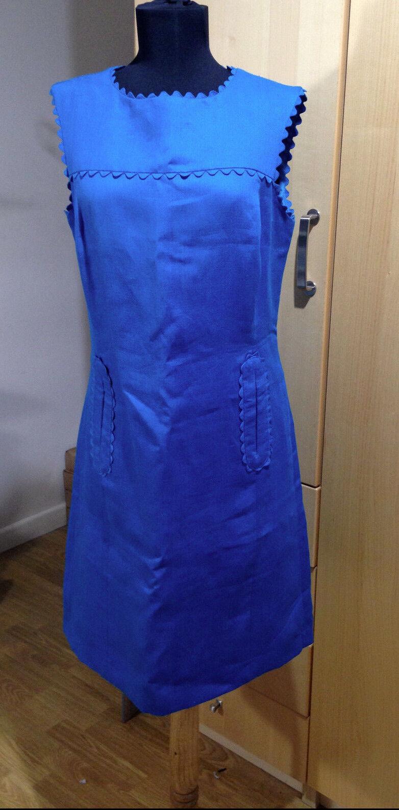 Hobbs Deep Teal Flax Shift Dress - Size 12 BNWT