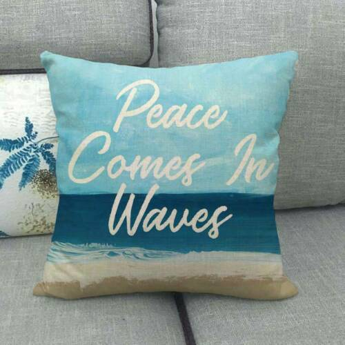 Beach Throw Pillow Covers Nautical Decorative Holiday Summer Square Cushion Case