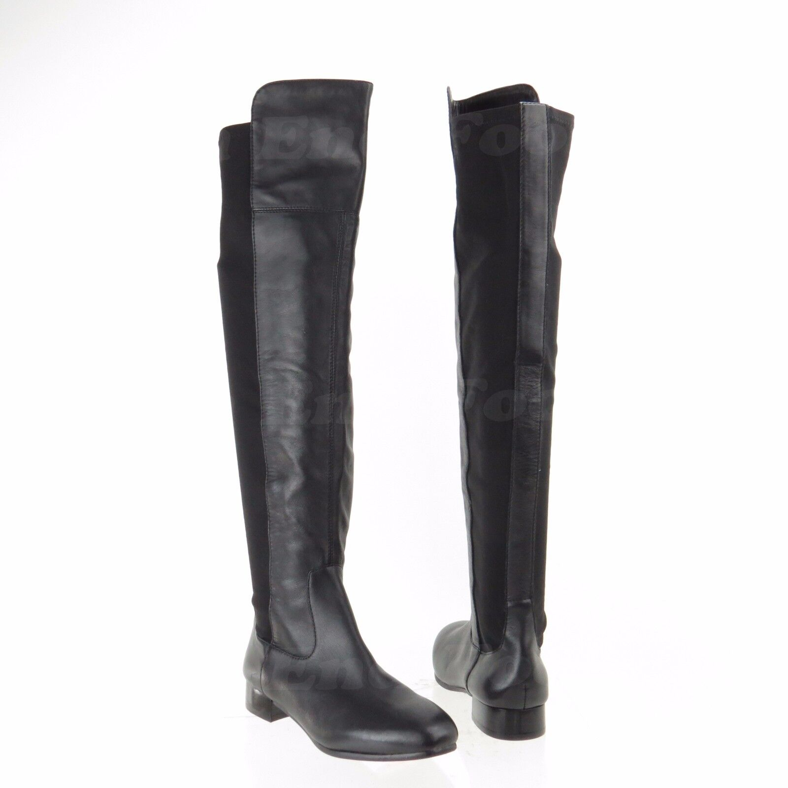 Louise Et Cie Andora Women's shoes Tall Black Leather Stretch Stretch Stretch Boots Sz 4.5 M NEW 2543b4