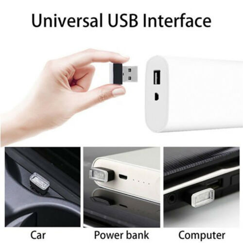 10pcs Bright USB LED Light Colorful Light Lamp For Laptop Car Atmosphere Light