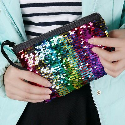 Women Girls Mini Glitter Wallet Sequins Handbag Kids Coin Purse Party Clutch