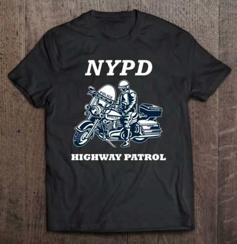Nypd Highway Patrol Thin Blue Line Vintage Gift For Men Women Funny Black Tee