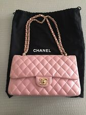 """CHANEL BORSA 10"""" 2.55 PINK QUILTED  LEATHER  DOUBLE FLAP DOUBLE  C"""