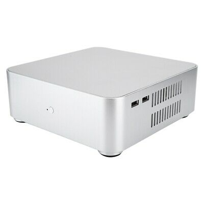 NEW Black Mini ITX Silent HTPC Fanless 2-Front USB 2.0 Desktop PC DIY Empty Case
