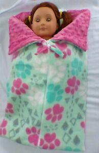 Sweat-heart Design Doll Accs for AG American Doll Pink Sleeping Bag with Pillow