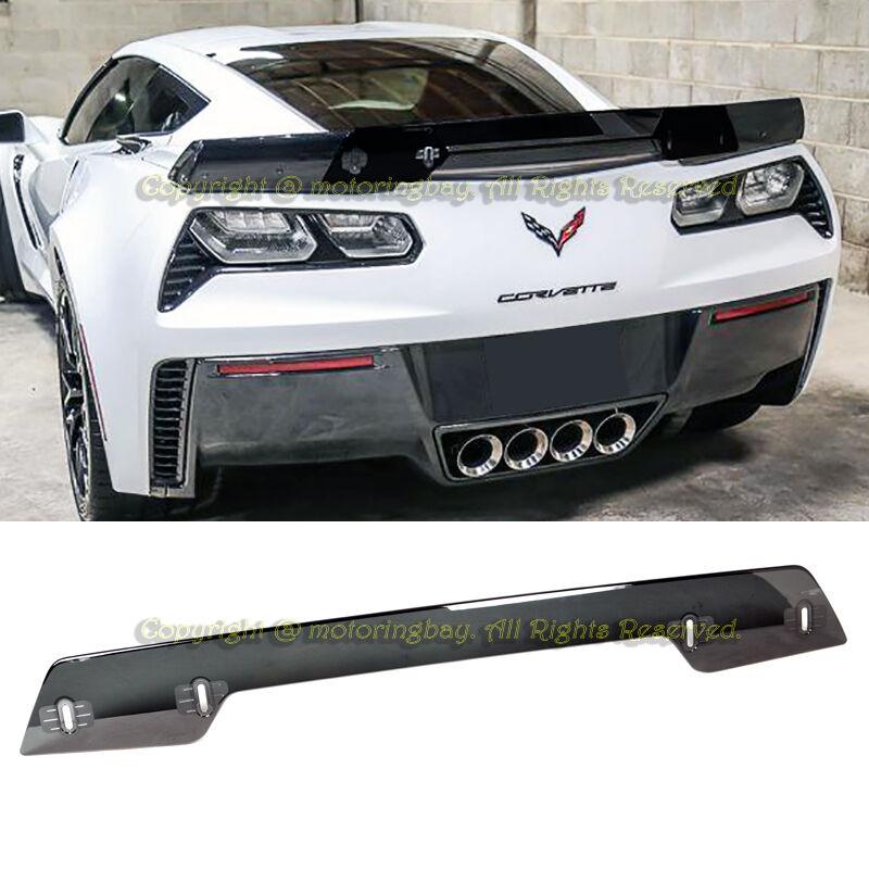 For 14 19 Corvette C7 Z06 Z07 Stage 3 Rear Spoiler Upgrade Wickerbill Smoke Tint Ebay