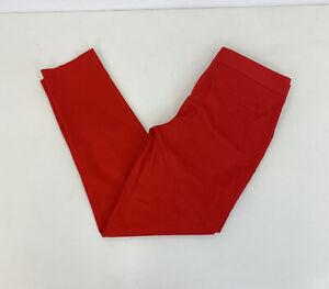 Massimo Dutti Pantaloni Chino Rosso Arancione Affusolato FIT W33 L29 Donna