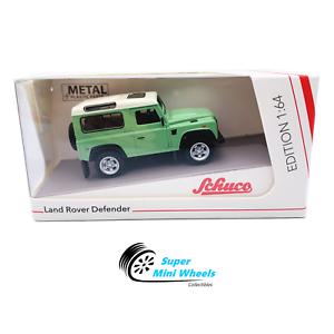 Schuco-1-64-Land-Rover-Defender-90-Green-Diecast-Model-Car