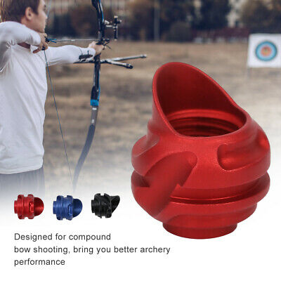 Archery Peep Sight Hooded Housing Aluminum Compound Bow Shooting Red 37°