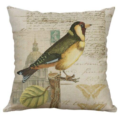 Bird Print Pillow Case Sofa Car Waist Throw Cushion Cover Home Decoration 18/'/'