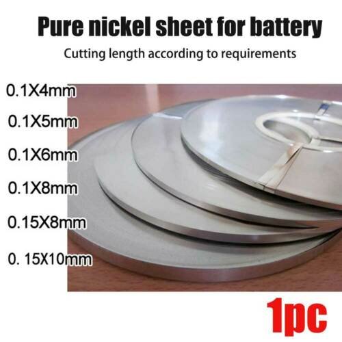 10M Solid Pure Nickel 99.96/% Ni Strip Tap Spot Welding Lithium NiMh NiCd Battery