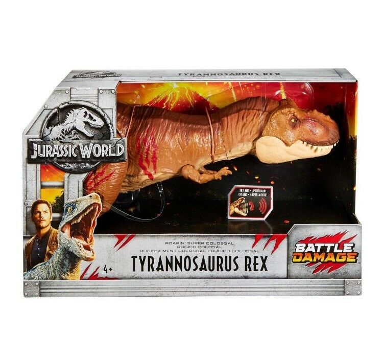 Jurassic World Fallen Kingdom Roaring Super Colossal Tyrannosaurus Rex 2018 New