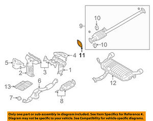 details about hyundai oem 06 10 sonata 3 3l v6 exhaust center pipe gasket 2876428020 Hyundai Sonata Motor Diagram