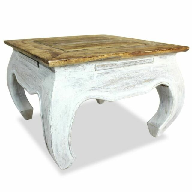 Antique Wooden Coffee Table Square Reclaimed Side End Table