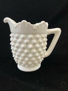 Fenton Milk Glass Hobnail Shoe Slipper White Original Label