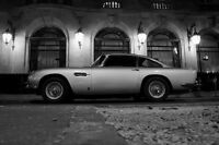 Poster Of Aston Martin Db5 Left Side Hd Bw Print Multiple Sizes Available