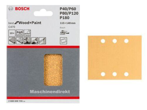 Bosch 2 608 608 y00 c470 Pastille de sablage Set Best for Wood Paint Bois//Couleur 10 pces