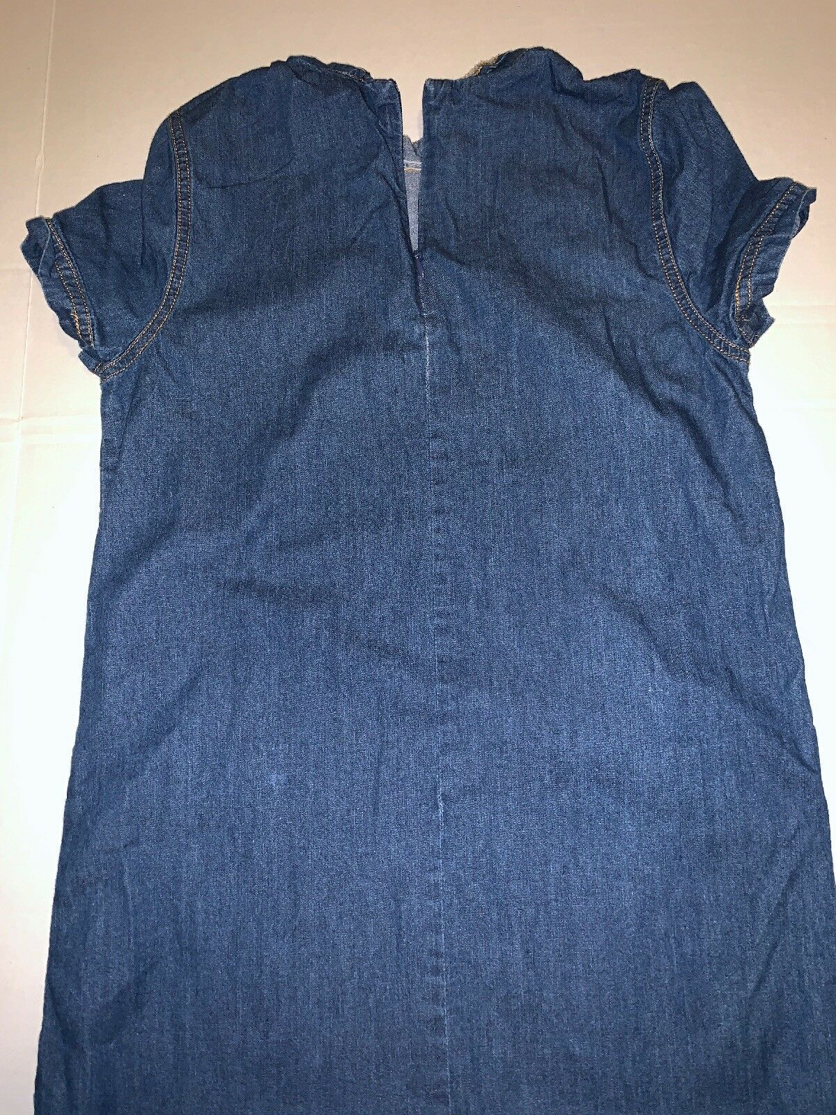 Preowned- Forever21 Dark Wash Chambray Denim Dres… - image 7