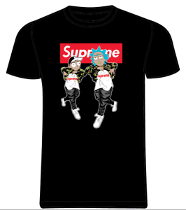 Rick-Morty-Hip-Hop-SPAIN-Thrasher-T-shirt-NERO-RIVISTA-Bambini-Adulti-XS-3XL-NUOVO