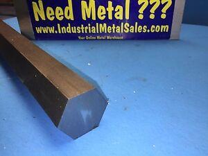 "1-1/2"" x 12""-Long C1018 Steel Hex Bar-->1.500"" 1018 Steel Hex-->LATHE STOCK"