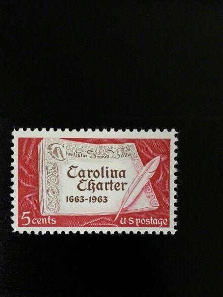 1963 5c Carolina Charter, 300th Anniversary Scott 1230