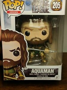 FUNKO-POP-Aquaman-Bobble-Head-Funko-Pop-Heros-205-Justice-league-DC