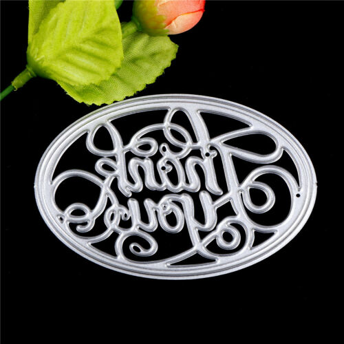 Thank you Oval Metal Cutting Dies Stencil For Scrapbooking DIY Album Card-Dec ME