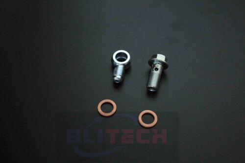 Stainless Steel Banjo Bolt Fittings Kit Adapter Metric 10mm One Set M10 x 1.0