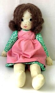 Vintage-70s-Holly-Hobbie-Doll-Simplicity-Pattern-6006-Cloth-Girl-Button-Eyes