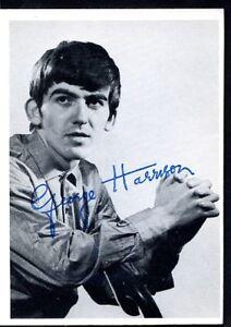 Image Is Loading BEATLES TRADE CARD 1964 GEORGE HARRISON SIGNATURE Btc023