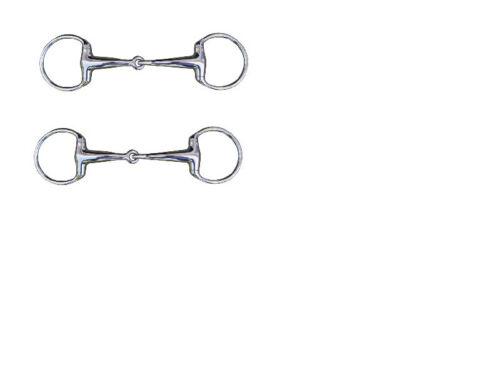 Ηκμ Eggbutt Stainless Jointed Snaffle Bit 16 mm or 18 mm Thick All Sizes Free p/&p