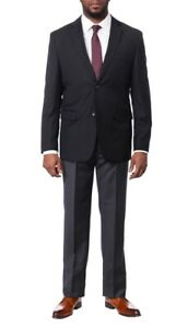 Montefino-Mens-Solid-Navy-Blue-100-Wool-Slim-Fit-Blazer-Sportcoat