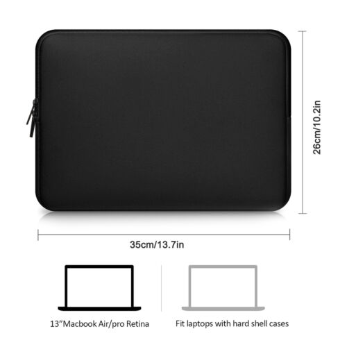 Top Security Zipper Notebook Laptop Sleeve Case Carry Bag Pouch Cover 13-15.6/'/'