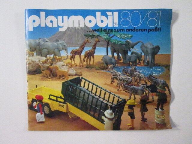 PLAYMOBIL-  DIFICILISIMO CATALOGO PLAYMOBIL PLAYMOBIL PLAYMOBIL 1980-1981 MUY BUEN ESTADO  - LUJO  84d43b