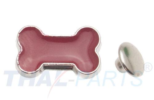 100er Pack Ziernieten Knochen Bone Rot #642 Motivnieten Ledernieten