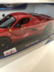Maisto-Special-Edition-1-18-escala-Diecast-Rojo-Ferrari-LaFerrari-Race-Car